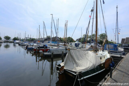Yachts at the Lemsterpoort Marina