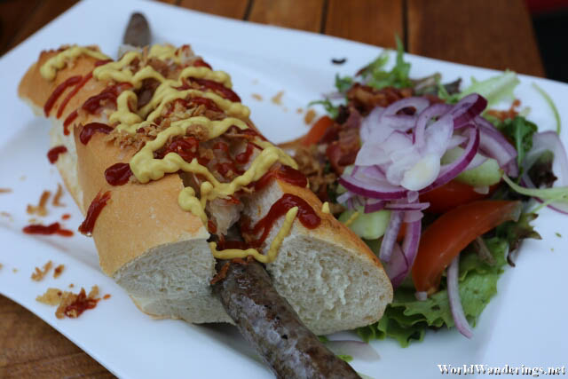 Sausage Sandwich at De Seven Wouden in Sloten