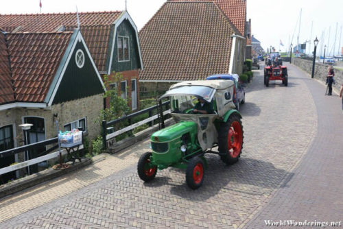 Procession of Farming Tractors at Hindeloopen