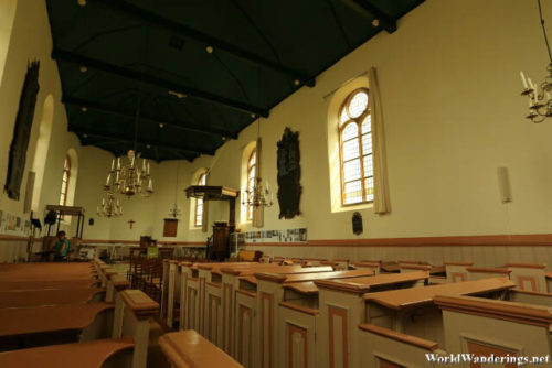 Inside the Hindeloopen Dutch Reformed Church