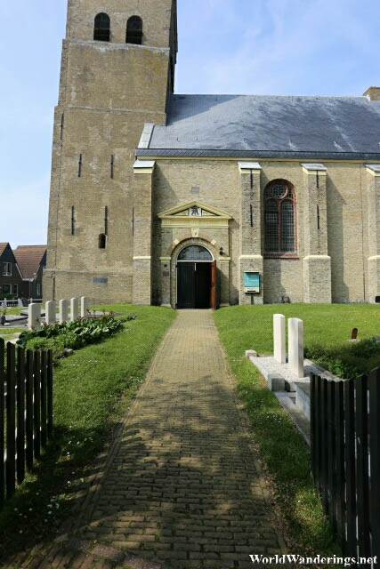 Entering the Dutch Reformed Church in Hindeloopen