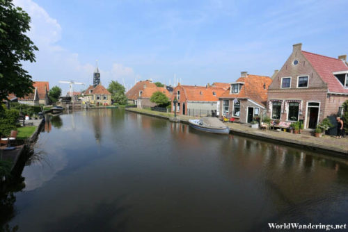 Houses Along a Canal in Hindeloopen