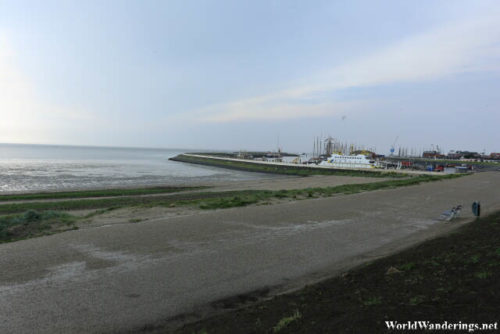 Looking at the Wadden Sea and Harlingen