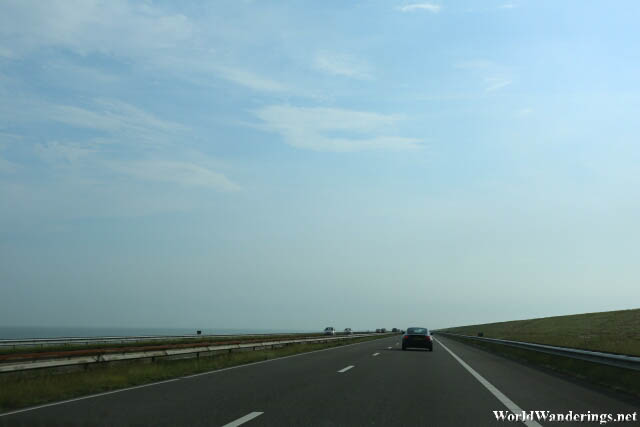 Driving on the Afsluitdijk