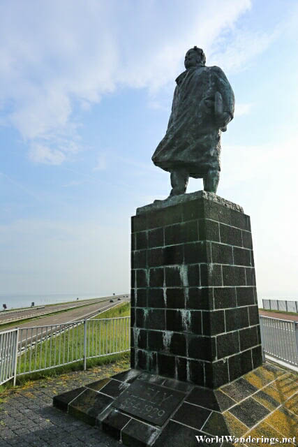 Cornelis Lely at the Afsluitdijk