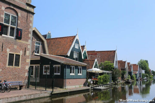 Houses Along the Canal in De Rijp