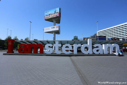 I Amsterdam Sign at Amsterdam Airport Schiphol