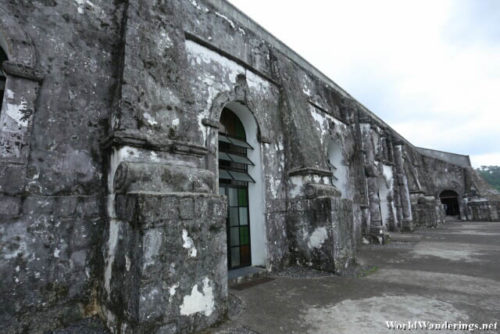 Outside the Walls of the Church of Our Lady of the Gate in Daraga
