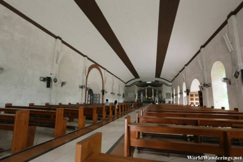 Interiors of the Church of Our Lady of the Gate in Daraga