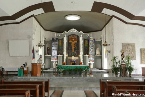 Altar at the Church of Our Lady of the Gate in Daraga