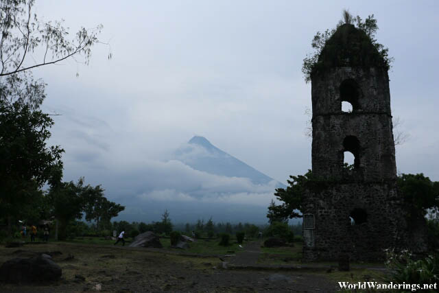 Mayon Volcano and the Belfry at Cagsawa