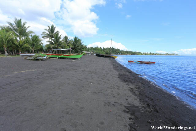 Black Volcanic Sand of Coron-coron Beach