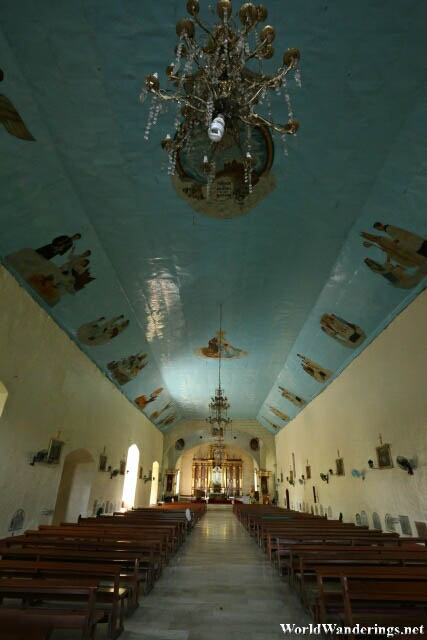 Inside the Saint John the Baptist Church in Camalig