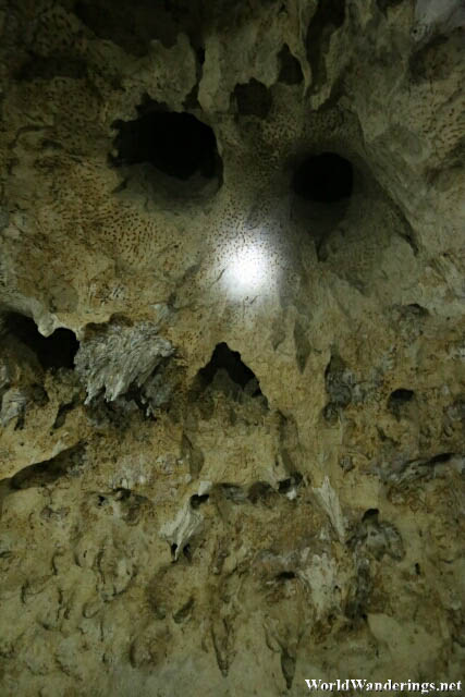 Skull Pattern Above the Dance Floor in Hoyop-hoyopan Cave