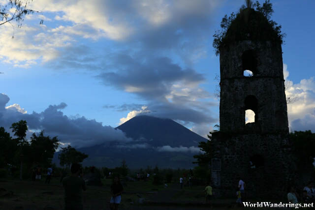 Mayon Volcano and Cagsawa Belfry