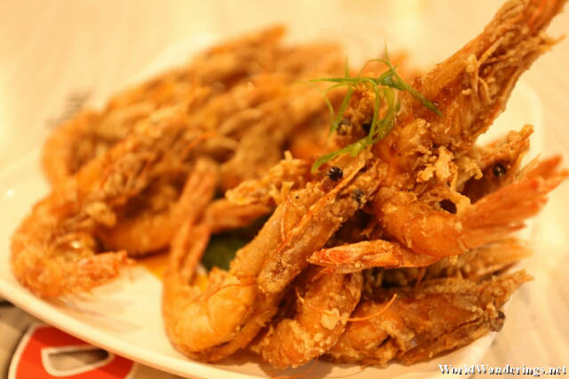 Tasty Fried Shrimp at Choobi Choobi