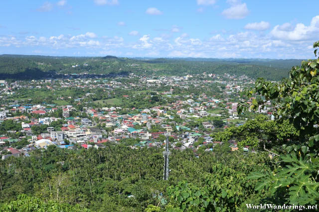 Looking at Legazpi City from Ligñon Hill