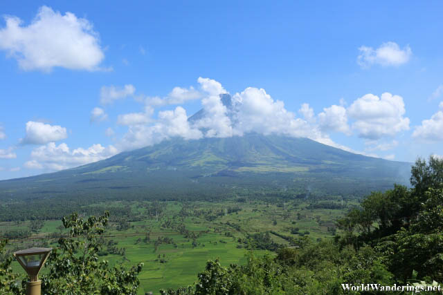 Postcard View of Mayon Volcano from Ligñon Hill
