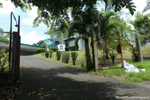 Enteriing the Mayon Volcano Observatory Grounds
