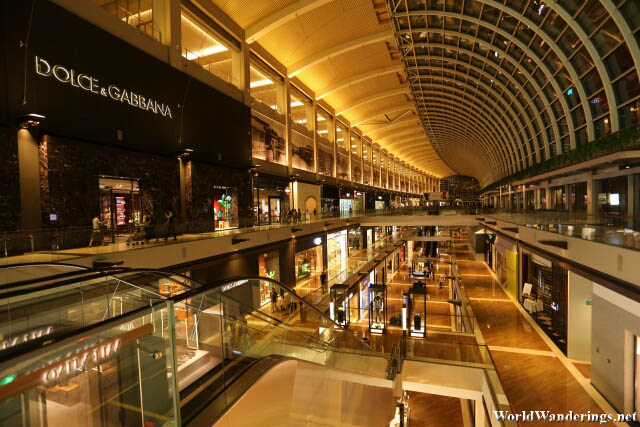 Luxurious Interiors of the Marina Bay Sands