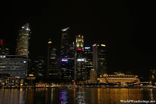 Looking at the Raffles Place