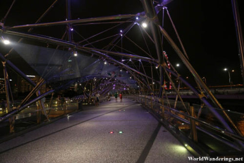 Walking On the Helix Bridge