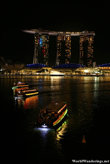 View of the Marina Bay Sands from the Jubilee Bridge