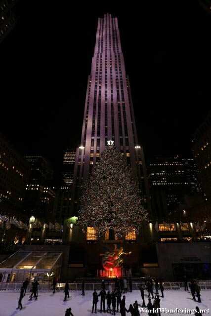 Rockefeller Plaza at Night