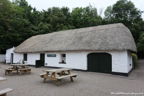 Traditional Thatched Roofed Huts in Bunratty Castle and Folk Park