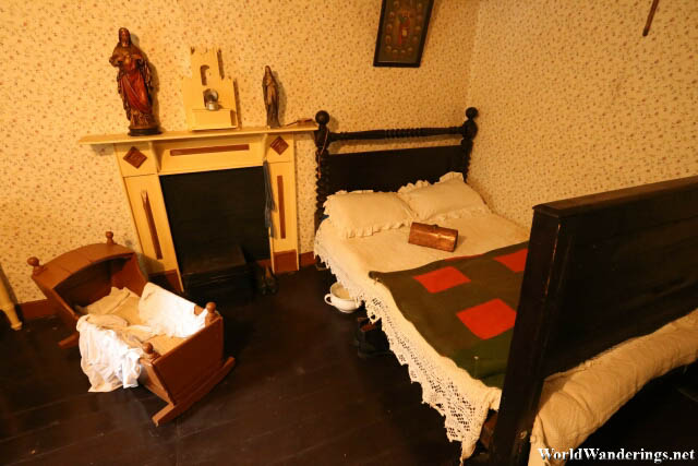 Bedroom at the Bunratty Folk Park