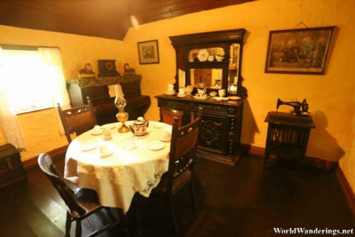Dining Room at the Bunratty Folk Park