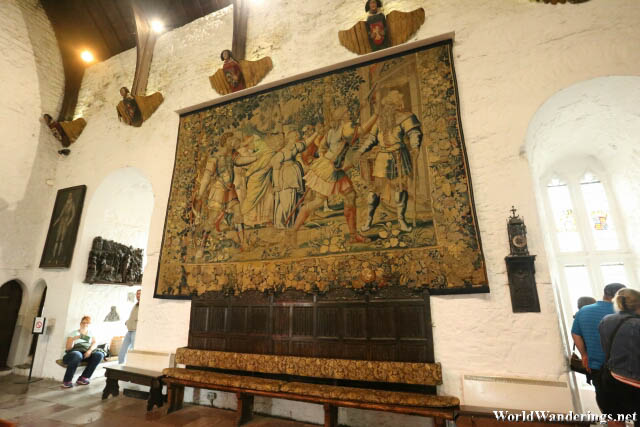 Large Tapestry at Bunratty Castle