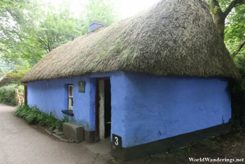 Irish Thatched Roof Cottage at Bunratty Folk Park