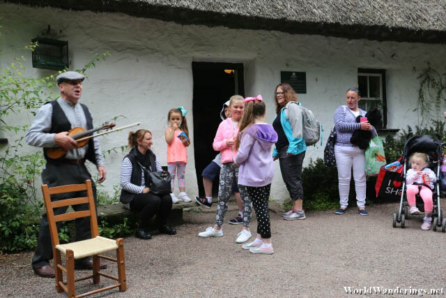 Musician Playing at Bunratty Folk Park