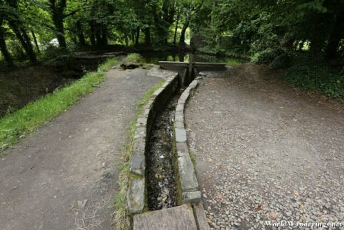 Canal for Water at the Horizontal Mill in Bunratty Castle