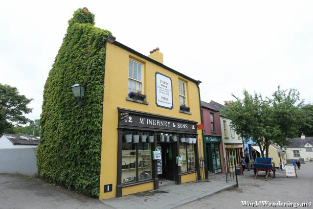 Shops Along the Village Street in Bunratty Folk Park