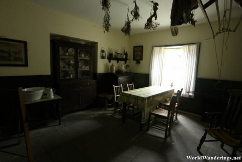 Inside the Doctor's House in Bunratty Folk Park