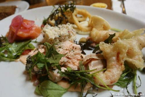 Seafood Meal at JP Clarke's Country Pub