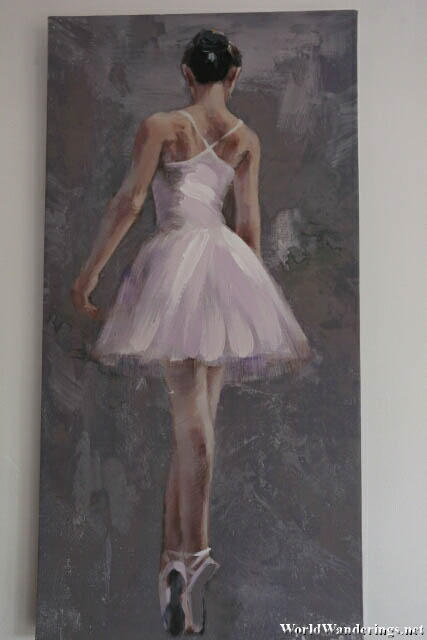 Ballerina Painting in a Bedroom in Limerick