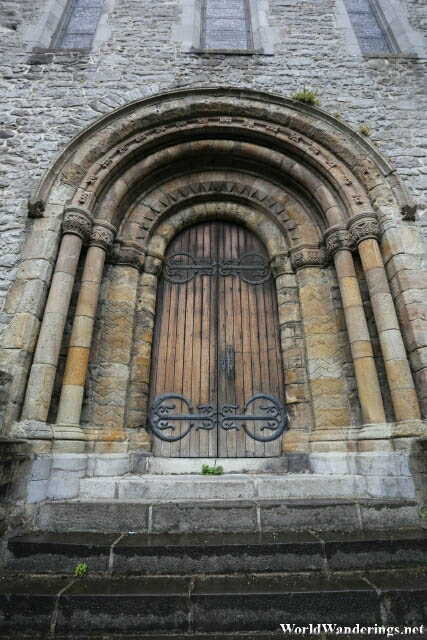 Imposing Church Gates at Saint Mary's Cathedral in Limerick